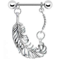 Stainless Steel Fine Feather Nipple Ring Ah I Want this :) Body Jewelry Piercing, Piercing Ring, Body Jewellery, Body Piercings, Cartilage Ring, Plugs Earrings, Nipple Rings, Jewelery, Jewelry Accessories