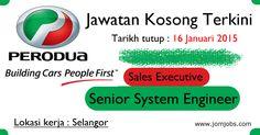 Jawatan Kosong PERODUA 2015. Peluang kerjaya di Perodua Sales Sdn Bhd 2015. #kerjakosongperodua2015 #jawatankosongperodua2015