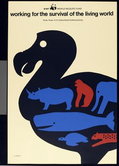 Tom Eckersley, WWF [Worldwide Wildlife Fund] poster