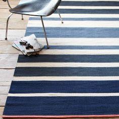 Gradated Stripe Cotton Dhurrie - Half Moon | west elm