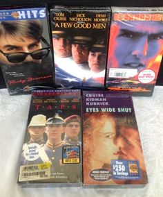 Tom Cruise Movies Lot 5 VHS Videos New Sealed Risky Business Days Thunder Taps