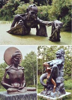 the indian sculpture park, victoria's way, roundwood, co. wicklow