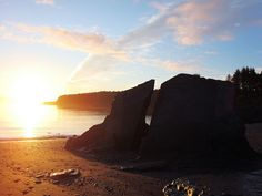Mill Bay Beach.  I remember jumping off the small part of that rock when the tide was higher into ice cold water!