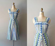 1950s dress / 50s dress / Spiroflower dress by DearGolden on Etsy