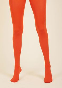 Accent Your Ensemble Tights in Persimmon | ModCloth