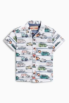 Buy White Car Print Shirt (3mths-6yrs) online today at Next: United States of America