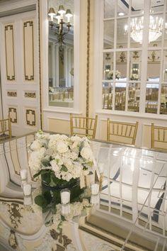 All white floral cen