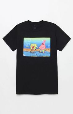 Rep an iconic duo on top in the SpongeBob T-Shirt. This rad tee has a classic construction with a SpongeBob and Patrick graphic on the front. Blusas Oversized, Spongebob Shirt, Look 80s, Pacsun Mens, T Shirt World, T Shirt And Shorts, Men Shorts, Shirts For Teens, Shirt Style