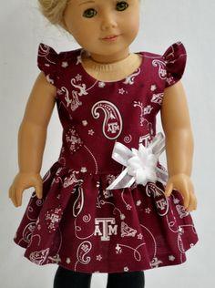 Aggie Dress For 18 Inch American Girl Doll by ThreadsAndSplinters