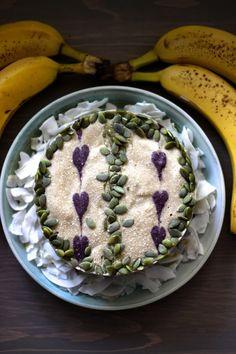 This Rawsome Vegan Life: BANANA ICE CREAM CAKE with MATCHA, BLUEBERRY + VANILLA LAYERS