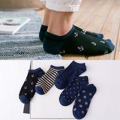 Подарочная коробка летние носки мужские носки спортивные носки тонкие секции невидимый мелкий рот скольжения темно синяя линия низко, чтобы помочь мужские носки