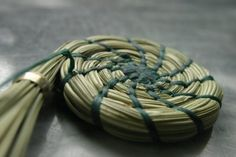 Start of a pine needle basket