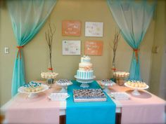 My Baby Shower when I was expecting my baby boy. Little Mister theme in orange and light blue color pallet.