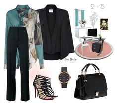 """""""9 - 5"""" by debbie-michailides ❤ liked on Polyvore featuring Lichtenberg, Miu Miu, Zuo, Marc Jacobs, Armani Collezioni, Acne Studios, Marni and Christian Louboutin"""