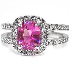 Pink Sapphire Wedding Ring