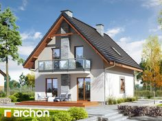 Dom w sasankach 3 Home Fashion, House Plans, Cabin, Mansions, House Styles, Entertainment, Home Decor, Cottage, Decoration Home