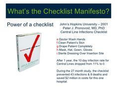 The Checklist Manifesto How To Get Things Right  Brain Mindful