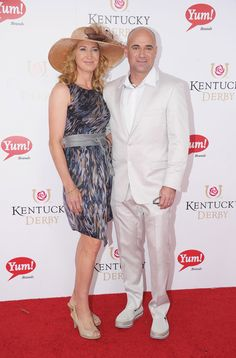Steffi Graf and Andre Agassi at the 138th Kentucky Derby.