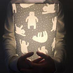 Lamp featuring Fair Isle fabrics by @lampalino