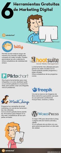 6 herramientas gratuitas de Marketing Digital Internet marketing is becoming a vital component of running a business. Inbound Marketing, Marketing Online, Business Marketing, Content Marketing, Internet Marketing, Affiliate Marketing, Marketing And Advertising, Social Media Marketing, Online Business