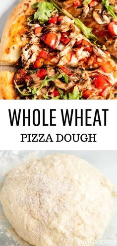 Whole Wheat Pizza Dough – Soft, chewy and crispy all at the same time. Super easy to whip up and can be made in less than an hour! Whole Wheat Pizza Dough – Soft, chewy and crispy all at the same time. Super easy to whip up and can be made […] Healthy Pizza Dough, Healthy Pizza Recipes, Easy Pizza Dough, Healthy Vegetable Recipes, Cooking Recipes, Healthy Homemade Pizza, Pizza Dough Whole Wheat, Wheat Pizza Dough Recipe, Deep Dish