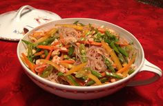 Asian Rice-Noodle Salad with Cashews
