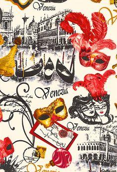 Venice - Masquerade Dream - Quilt Fabrics from www.eQuilter.com