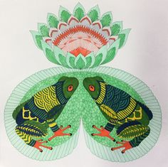 Colouring Millie Marotta Frogs / Grenouilles