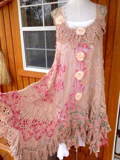 A personal favorite from my Etsy shop https://www.etsy.com/listing/226666286/whispering-tattered-roses-crochet-dress