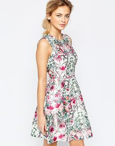 Ted Baker Layered Bouquet Full Skirt Dress