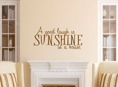A Good Laugh is Sunshine in a House Decal - Family Wall Decal - Wall Quotes - Wall Decor - Vinyl Lettering - Love Wall Decal - Home Decor LAUGHTER IS THE BEST MEDICINE!!!