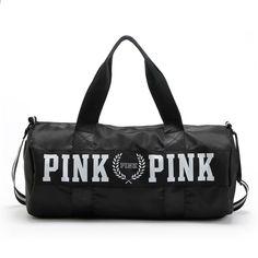 1c77bb9b98364 2018 Girl Stripe Duffle Bag Love Pink Victoria Torba na ramię Duża  pojemność Gym Sport Backpack