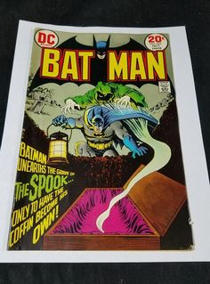 Batman #252 Comic Book (Oct 1973, DC) The Spook Raleigh Bike Advertising On Back