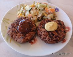 Bean-Seitan Burgers - The Veggie Table