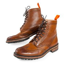 Premium Brogue Boots from Superdry. The soles on these guys are more rugged than your typical wingtip brogue boots.