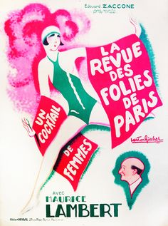 La Revue des Folies de Paris by Illegible | Shop original vintage #posters online: www.internationalposter.com.