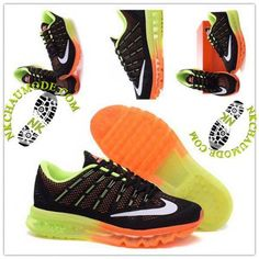outlet store 72484 fab82 Mode   Nike Chaussure Sport Air Max 2016 Homme Noir Orange Jaune 01
