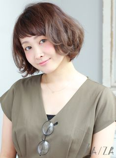 【ボブ】ニュアンシーボブ/ZA/ZA 高田馬場店の髪型・ヘアスタイル・ヘアカタログ|2015秋冬