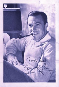 1940s Gene Kelly Autographed Photo Vintage Hollywood