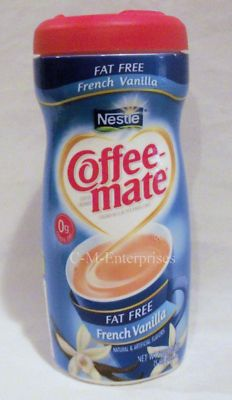 The lids from Nestle Coffee Mate Creamers will fit on Mason jars. Too cool!