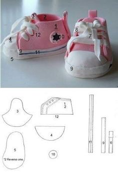 New baby shoes sewing pattern ag dolls Ideas Sewing Dolls, Ag Dolls, Girl Dolls, Barbie Doll, Doll Shoe Patterns, Baby Shoes Pattern, Sewing Patterns, Clothing Patterns, Dress Patterns