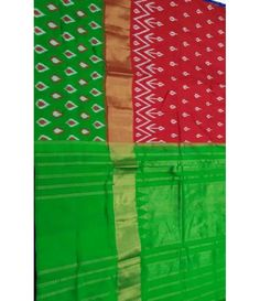 Red Pure Handloom Ikkat Silk Saree