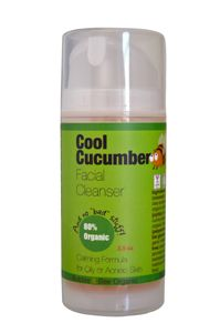 Cool Cucumber Facial Cleanser (80% Organic), 14.99; recommended by NMDL; for oily and blemish-prone skin