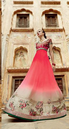 #VYOMINI - #FashionForTheBeautifulIndianGirl #MakeInIndia #OnlineShopping #Discounts #Women #Style #EthnicWear #OOTD #Suit #Anarkali Only Rs 4398/, get Rs 457/ #CashBack, ☎+91-9810188757 / +91-9811438585