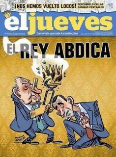 Spanish Magazine, El Jueves, changed their cover photo. They wimped out. Should have been the one pictured here, apparently.