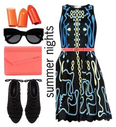 """summer nights"" by emcf3548 ❤ liked on Polyvore featuring Peter Pilotto, Gucci, Jimmy Choo, Zara and Karen Walker"