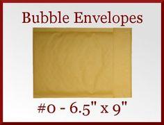 Ship It!  25 Kraft CD DVD 0 Mailer Bubble Padded Envelope 6.5 x 9 Made in America   at CDVDMart