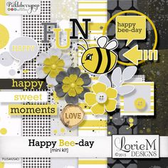 Happy Bee-day Mini Kit By Lorie M Designs