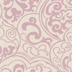 York Wallcoverings Wallpap-Her Divine Wallpaper Blush - WH2633