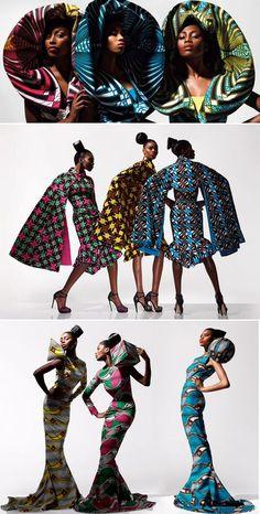 ♥Vlisco textiles. Amazing colors.